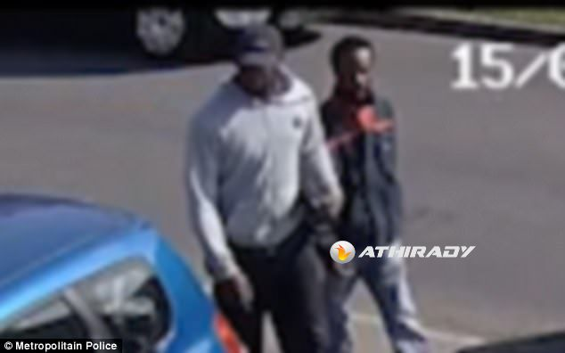 The two suspects in relation to the incident on June 15 are both described as black males of slim build in their late 20s