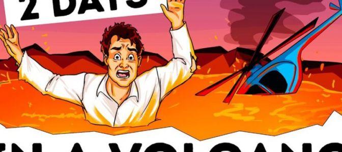 உலகை மிரளவைத்த உண்மை நிகழ்வு ! எப்படி இவர் எரிமலையில் விழுந்து தப்பினார்.? (வீடியோ)